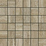 12 ITALON travertino floor silver mosaico патинир 30x30
