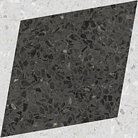 3 WOW drops natural rhombus decor graphite 18.5x18.5