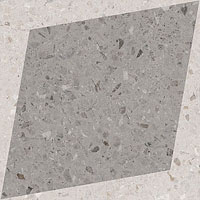 3 WOW drops natural rhombus decor grey 18.5x18.5